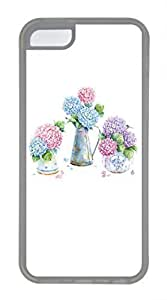 iPhone 5c case, Cute Beautiful Hydrangea iPhone 5c Cover, iPhone 5c Cases, Soft Clear iPhone 5c Covers