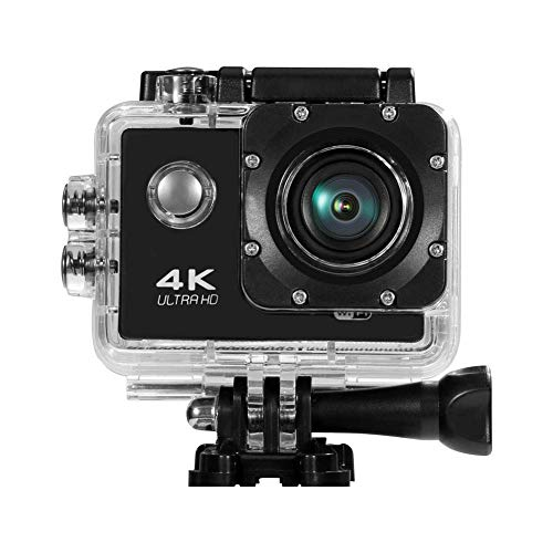 Sports Camera 12MP 4K WiFi Underwater Action Photography Cameras 170 Degree Ultra Wide Angle Lens with Mounting Accessories Kits