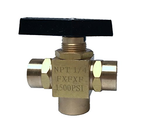 "1/4"" NPT Brass 1500PSI Panel Valve Mount 3-Way Chemical F..."
