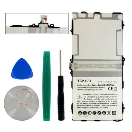Empire replacement for Samsung Galaxy Tab S 10.5, SM-T800, SM-T805C, EB-BT800FBC, EB-BT800FBB, 7900mAh, 3.8v, LiPol ()