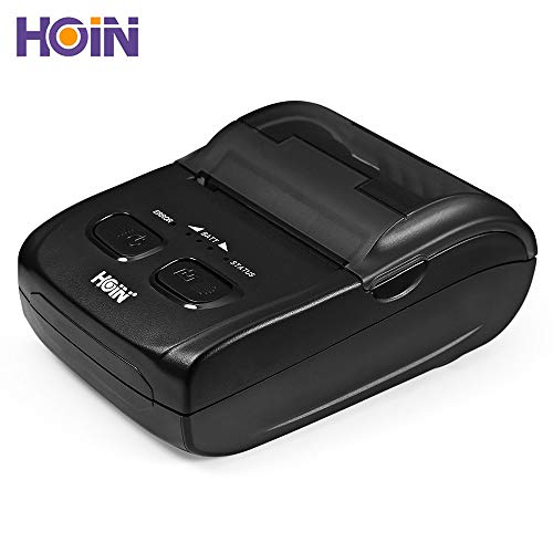 Portable Thermal Printer USB Bluetooth,EARME Mini Wireless Portable Personal Receipt Printer Compatible with Windows(XP/7/8/8.1/10), Linux, Android and iOS Systems by EARME