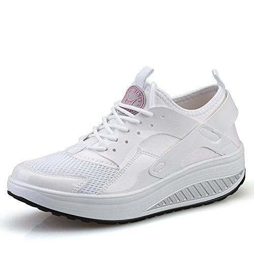 Sneakers Moda Donna Pizzo Traspirante Su Scarpe Sportive Per Studenti By Btrada White