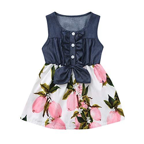 Baby Girls Sleeveless Denim Dress - GorNorriss Hot