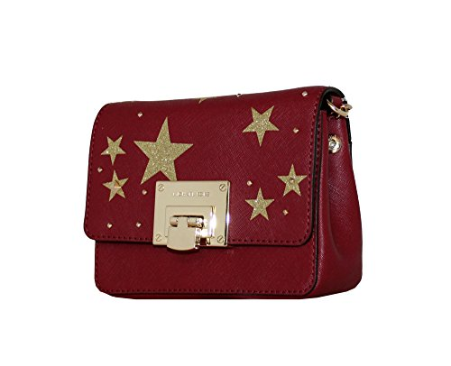 MICHAEL Michael Kors Women's Illustration Tina Small Clutch Leather Studded Wallet (Cherry) by MICHAEL Michael Kors