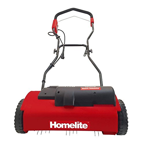 Homelite 14 In. 10 Amp Electric Power Dethatcher for Removing Dead Grass From Lawn