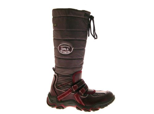 Burgundy 1 SNOW WARM GIRLS SIZE WELLIES FUR MUCKER LADIES WOMENS HIGH SKI Brown WINTER 5 KIDS KNEE WELLINGTON ZIP BOOTS UK LINED WATERPROOF HAxE1qw