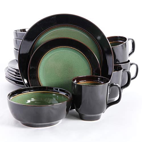 Dinnerware Set Green - Gibson Elite Bella Galleria 16 Piece Dinnerware Set, Green