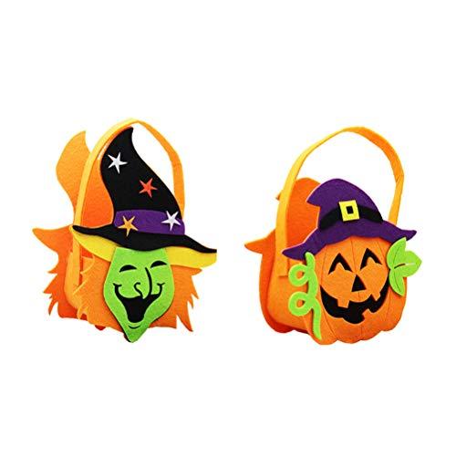 Amosfun Cartoon Candy Bag Tote Gift Bag Witch