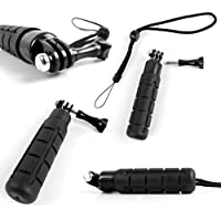 DURAGADGET Limited Edition, Waterproof Hand Grip Pole / Monopod with Wrist Strap in Black - Compatible with the TecTecTec! Sports Action Camera | XPRO1 | XPRO2 Action Cameras