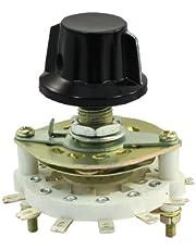 Sourcingmap - Selector de conmutador giratorio 1p11t pomo de plástico 1 polo 11 tiro canal de banda