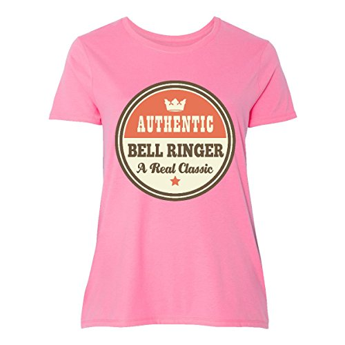 inktastic - Bell Ringer Vintage Classic Women's Plus Size T-Shirt 4 (26/28) Pink ()