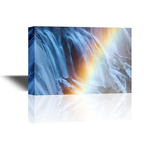 Abstract Landscape with a Rainbow in Front of a Waterfall Gallery