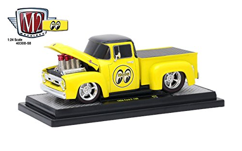 1956 Ford F100 Pickup Truck Mooneyes 1/24 Diecast Model Car by M2 Machines 40300-58 B