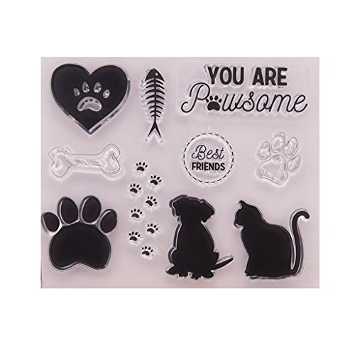 Yajom Dog Cat Clear Silicone Seal Stamp for DIY Album Scrapbooking Photo Card Decor by Yajom (Image #3)