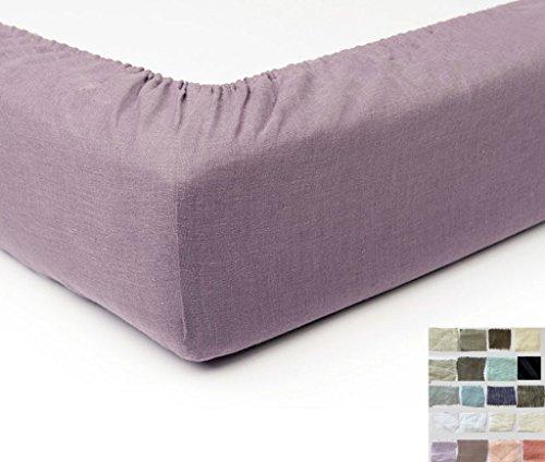 Natural Linen Box Spring Cover, Bed Skirt Alternative