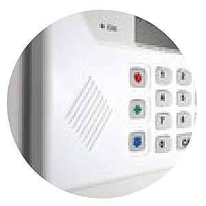 alfombrilla de ratón sistema de alarma de seguridad en el hogar - ronda - 20cm