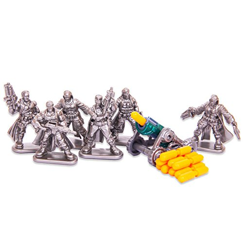 Set Weapons Infantry (Set of 6 Wasteland Raiders Fantasy Armored Infantry Toy Soldiers 40 mm + gun)