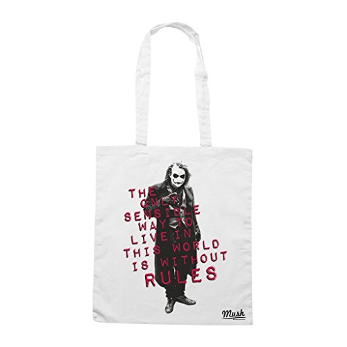 Borsa Joker No Rules - Bianca - Film by Mush Dress Your Style La Venta En Línea Barata o3wPwwTj4