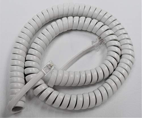 Bright White 12' Ft Handset Cord for ClearSounds Phone 40XLC CS40XLC CSC50 CSC50ER CSC500 CSC500ER CSC600 CSC600ER CSC1000 WC600 WCSC600 by DIY-BizPhones