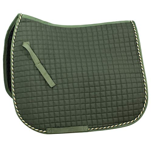 Horze Quilted Dressage Saddle Pad (Green, Full)