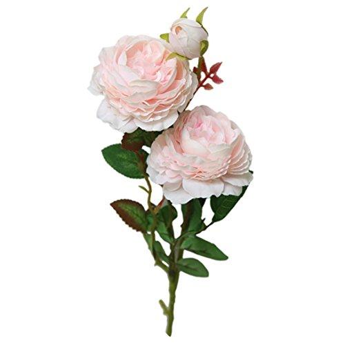 YJYDADA Artificial Fake Western Rose Flower Peony Bridal Bouquet Wedding Home Decor (Pink)