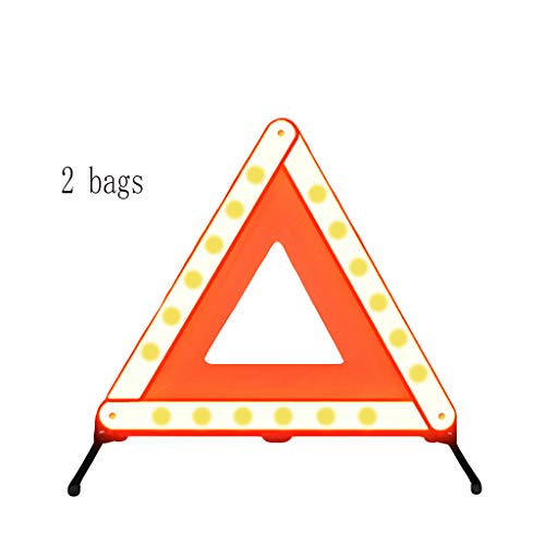 (Lvlong Auto Car Safety Emergency Reflective Warning ,Tripod Vehicle Fault Reflective Warning Frame Car Warning Triangle Rescue Alarm,Suitable for High Speed Safety Warnings/red 43x43cm)