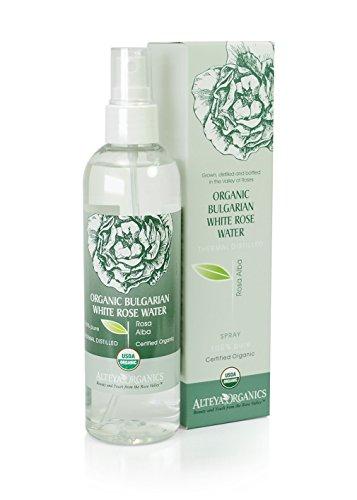 Alteya Bulgarian White Rose Water (Rosa Alba) Spray - USDA organic - 250ml /8.5 fl oz