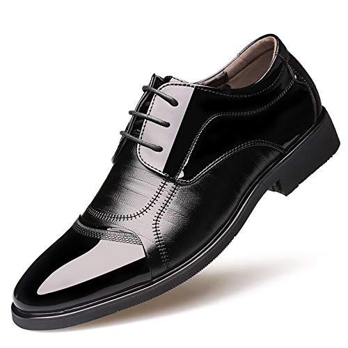 Nero Britannico a da Uomo Scarpe Scarpe Punta Pelle Fashion da in Oxford in Verniciata Cricket Stitching Business Casual Stile Formali wnpHxgCcqB