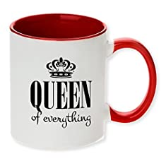 Queen of Everything funny red tone funny coffee mug! Perfect for the Queen in the house!