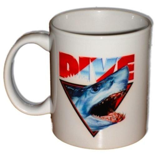 New Amphibious Outfitters 11 oz Ceramic Coffee Mug - Dive Shark