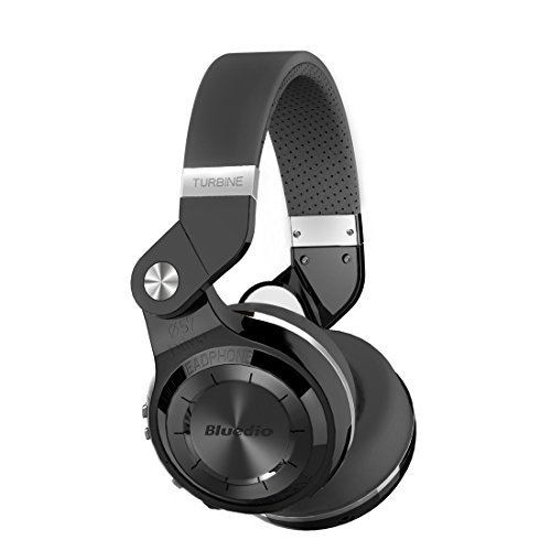 Bluedio Turbine T2s Wireless Bluetooth Headphones With Mic  57Mm Drivers Rotary Folding  Black