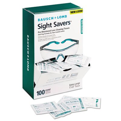 Sight Savers Pre-Moistened Anti-Fog Tissues with Silicone, 100/Pack, Sold as 100 Sheet