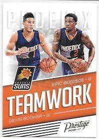 Devin Booker Eric Bledsoe 2016 17 Prestige Teamwork Phoenix Suns Insert Card 25 At Amazon S Sports Collectibles Store