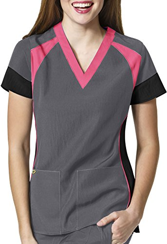 Stretch Wonderwink Womens V Neck Color