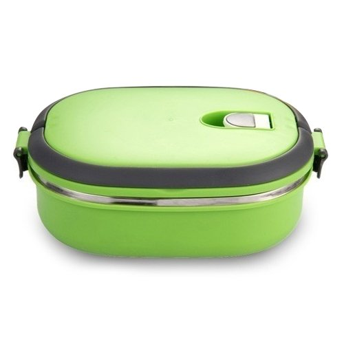 Lunch Box - SODIAL(R)High Quality Insulated Lunch Box Food Storage Container Thermo Thermal Green LEPTS2096