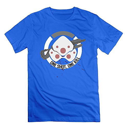 Men's One Shoot One Kill Short-Sleeve T-shirt RoyalBlue (Buy Cosplay Weapons)