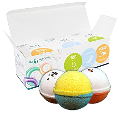 Bath Bomb Set, 3 PACK [4.5oz] X- Large Fizzies- USA Made - Bath Bombs Kit - Lush Scented Fizzy - Great Gift Idea - Baby Shower - Maternity Skin Care