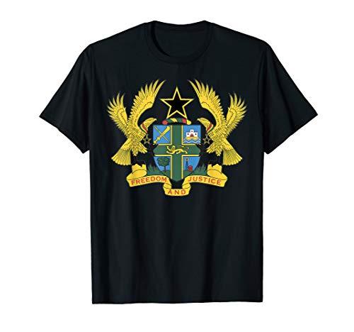 Ghana coat of arms T-shirt Tee Tees T Shirt Tshirt