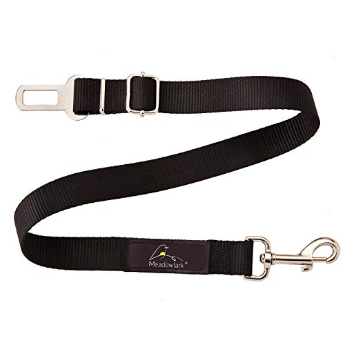 Meadowlark Dog Car Seat Belt. Adjustable Safety Belt Leash for Pet. for Any Vehicle. Chew Proof Nylon with Metal Buckles. for Large Medium Small Dogs. Harness Your Pet for Safety