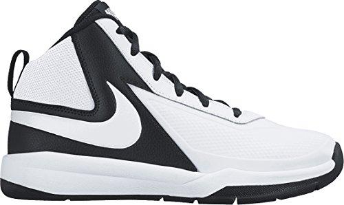 Nike Kids Team Hustle D 7  White/White/Black Basketball Shoe