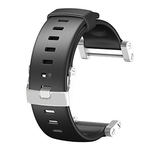 Suunto Core Accessory Strap Black One Size Rubber Band Silver Brush Buckle Adapter