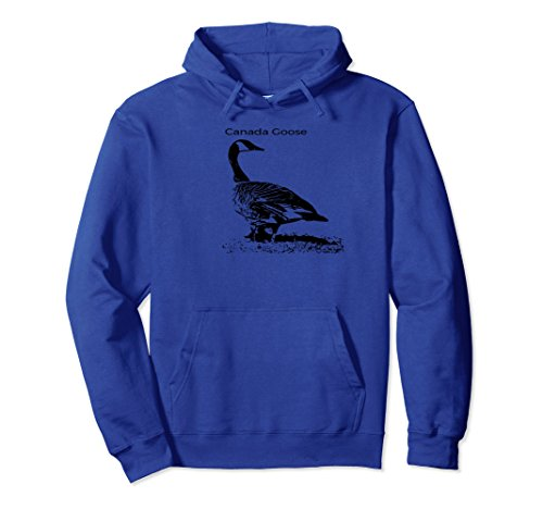 Unisex Canada Goose Standing Pullover Hoodie Waterfowl Lover Large Royal Blue