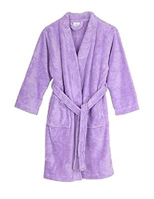 TowelSelections Girls Plush Kimono Robe Soft Fleece Bathrobe Made in Turkey