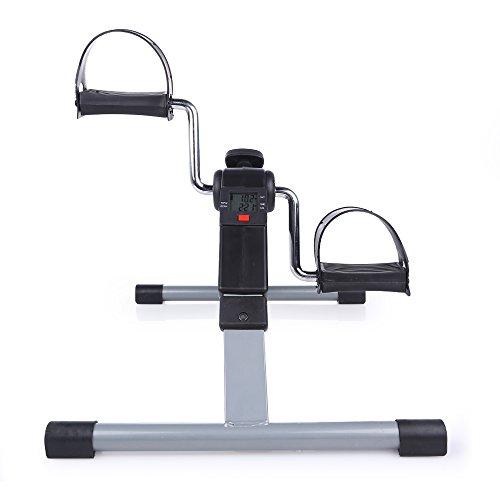 Folding Pedal Exerciser, AGM Medical Digital Under Desk Bike Foot Cycle Arm & Leg Peddler Machine by AGM (Image #2)