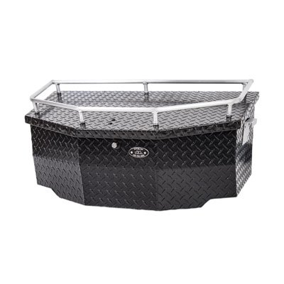 Ryfab Aluminum Cargo Box with Top Rack Black - Fits: Polaris Ranger RZR 900 Trail 2015-2018