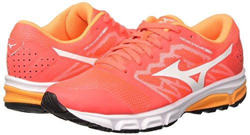 Md orangepop w De white Zapatillas Synchro Mujer fierycoral Mizuno Running Competición Multicolor 01 5qPw1nE6