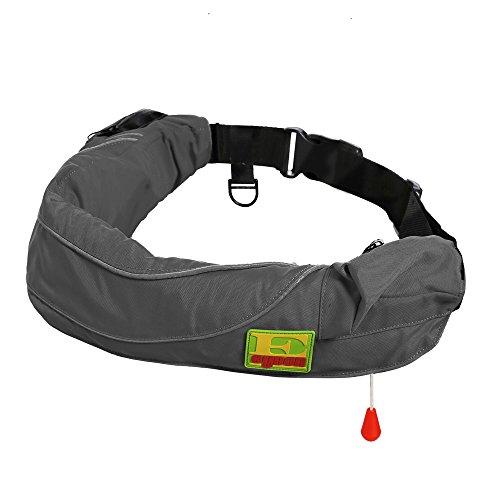 Eyson Inflatable Life Jacket Life Vest Life Ring Belt Pack Waist Bag Manual (600 Grey) ()