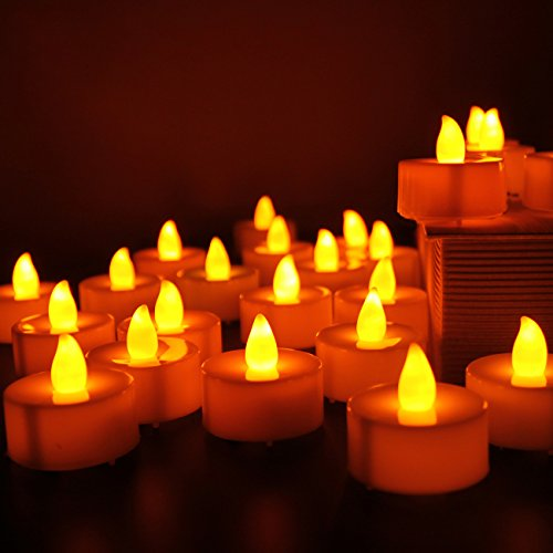 Electric Candles,Battery-powered Flameless LED Tealight Candles (24Pack)
