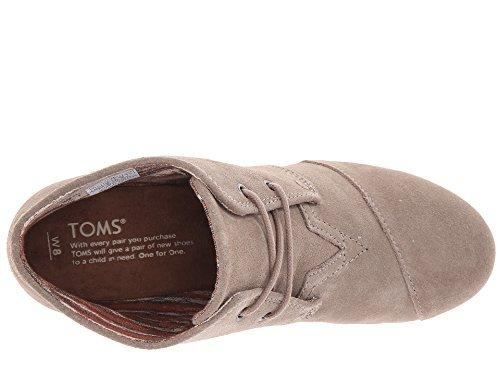 TOMS Women's Desert Wedge Bootie (38 M EU / 7.5 B(M) US, Taupe.)