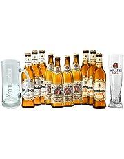 Las Mejores Alemanas: Krombacher Weizen 3 botellas de 500 ml cada una, Paulaner Oktoberfest 4 botellas de 500 ml cada una, Krombacher Pils 3 botellas de 500 ml cada una + 1 vaso Paulaner Weissbier y 1 Jarra Exclusiva Krombacher